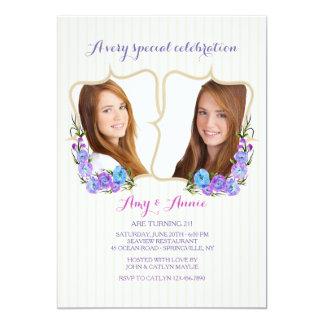 Convite gêmeo da foto do quadro