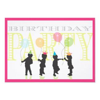 Convite gêmeo do aniversário das meninas - rosa