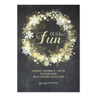 Convite Glam alegre completo da festa de Natal do