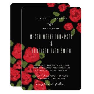 Convite Glam do casamento do roteiro das rosas