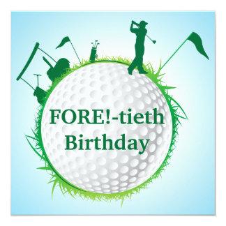 Convite Golfing do aniversário de 40 anos dos