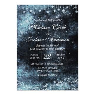 Convite golpeado estrela do casamento da galáxia