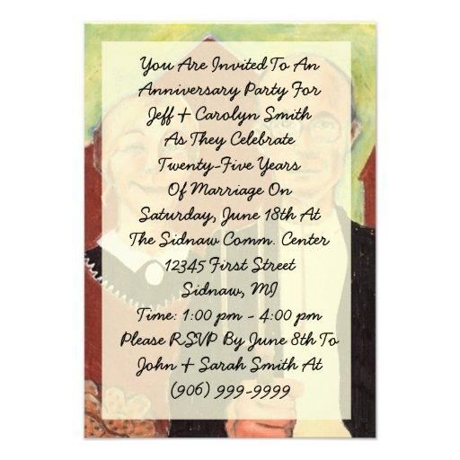 Convite gótico americano da festa de aniversário d