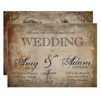 Convite gótico do casamento do crânio