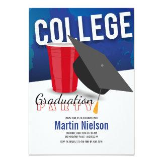 Convite graduado da faculdade
