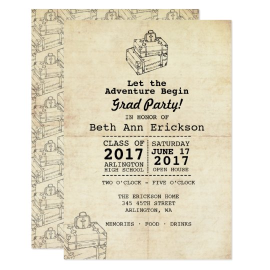 Convite graduation party invitation vintagetravel zazzle convite graduation party invitation vintagetravel stopboris Images