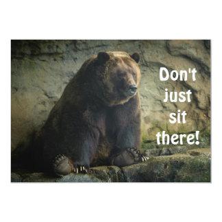 Convite grande do urso de ursinho