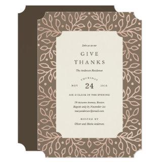 Convite grato do comensal da acção de graças