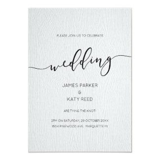 Convite gravado madeira do casamento da textura do