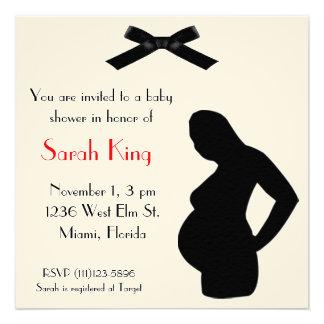 Convite grávido da senhora chá de fraldas