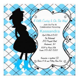 Convite grávido do chá de fraldas da xadrez ociden