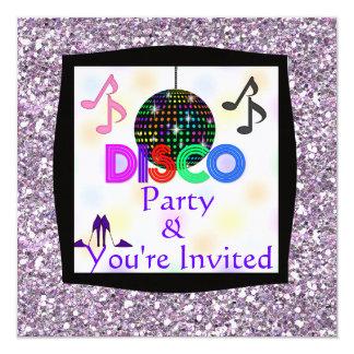 Convite Groovy do partido de dança BLING do disco