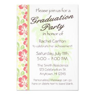 Convite havaiano da festa de formatura de Luau