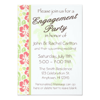 Convite havaiano da festa de noivado de Luau