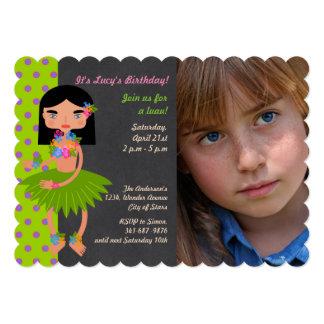 Convite havaiano da foto da festa de aniversário