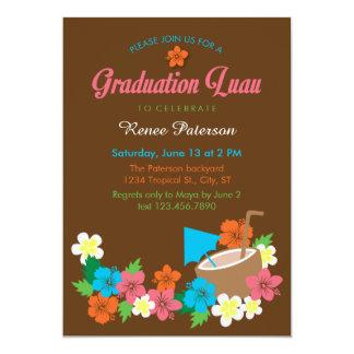 Convite havaiano da graduação de Luau do hibiscus