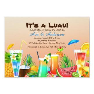Convite havaiano de Luau