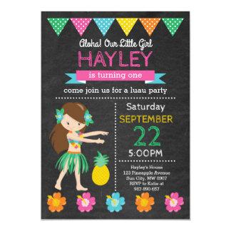 Convite havaiano do aniversário de Luau