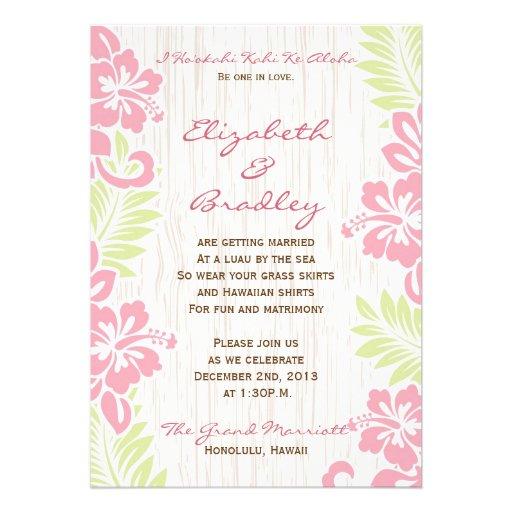 Convite havaiano tropical do casamento