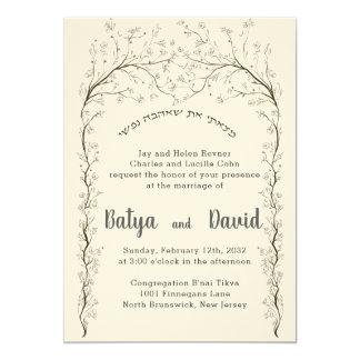 Convite hebreu judaico do casamento de Chuppah do