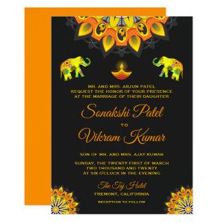 Convite Hindu do casamento do estilo de Bollywood