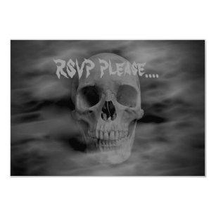 Convite Horror RSVP do Dia das Bruxas