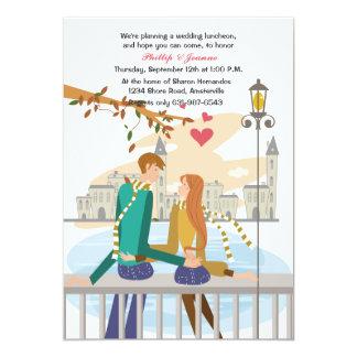 Convite ideal da lua de mel do casal novo