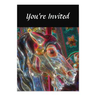 Convite impetuoso da arte da fantasia do cavalo do convite 12.7 x 17.78cm