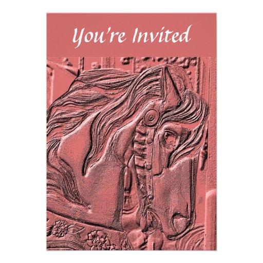 Convite impetuoso da arte do cavalo do carrossel
