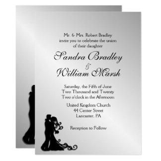 Convite impressionante do casamento de prata