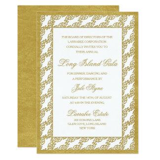 Convite incorporado clássico do evento de gala