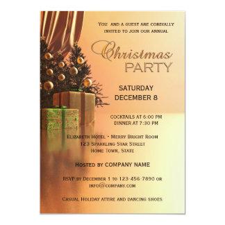 Convite incorporado da festa de Natal do ouro