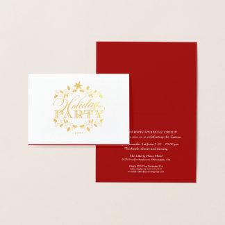 Convite incorporado da festa natalícia do ouro