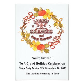 Convite incorporado editável do feriado