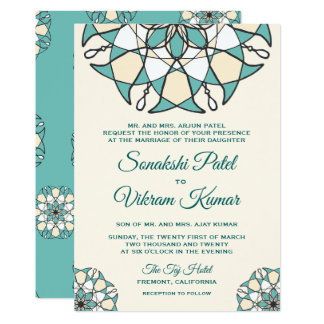 Convite indiano do casamento da mandala elegante