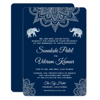 Convite indiano do casamento do Henna elegante dos