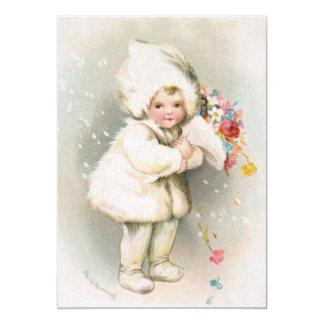 Convite informal do aniversário do bebê da neve do