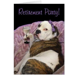 Convite inglês do bulldogge do olde do partido de cartão comemorativo