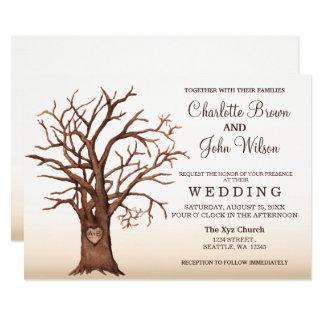 Convite inicial cinzelado do casamento da queda convite 12.7 x 17.78cm