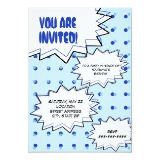 Convite inspirado cómico do pop art de intervalo