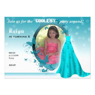 Convite inspirado congelado