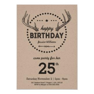 Convite inspirado retro do aniversário dos Antlers