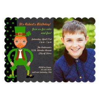 Convite irlandês da foto da festa de aniversário