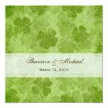 Convite irlandês do casamento do trevo