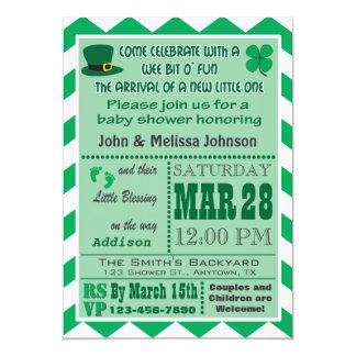 Convite irlandês do chá de fraldas