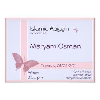 Convite islâmico de Aqiqa - celebração do bebé