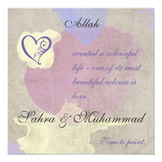 Convite islâmico - pintura da aguarela do amor