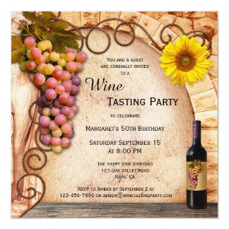 Convite italiano clássico da degustação de vinhos