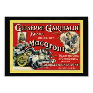 Convite italiano da propaganda do macarrão