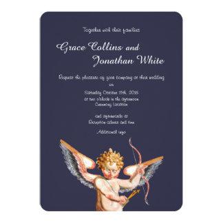 Convite italiano do casamento da arte do Cupido